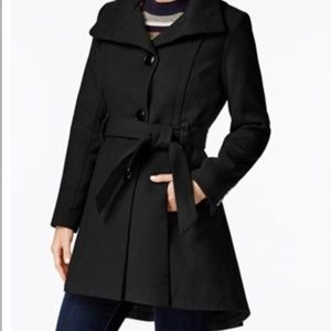 Steve Madden high/low hem belted pea coat